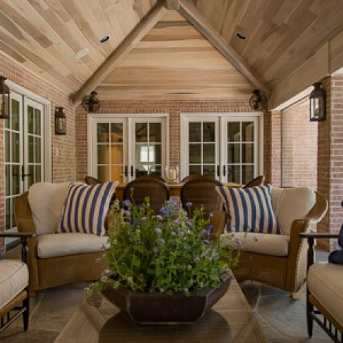 Kristin Mullen Designs Lister screened porch